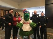 Councilwoman Vice President, Sara Lipsett joined Cherry Hill Police Officers